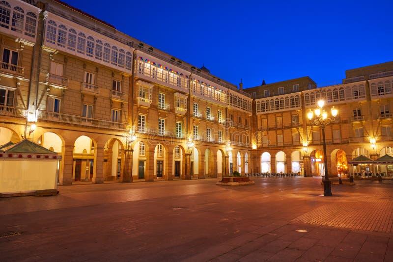 La Coruna Maria Pita Square Galicia Spain. La Coruna Maria Pita Square of Galicia Spain royalty free stock photography