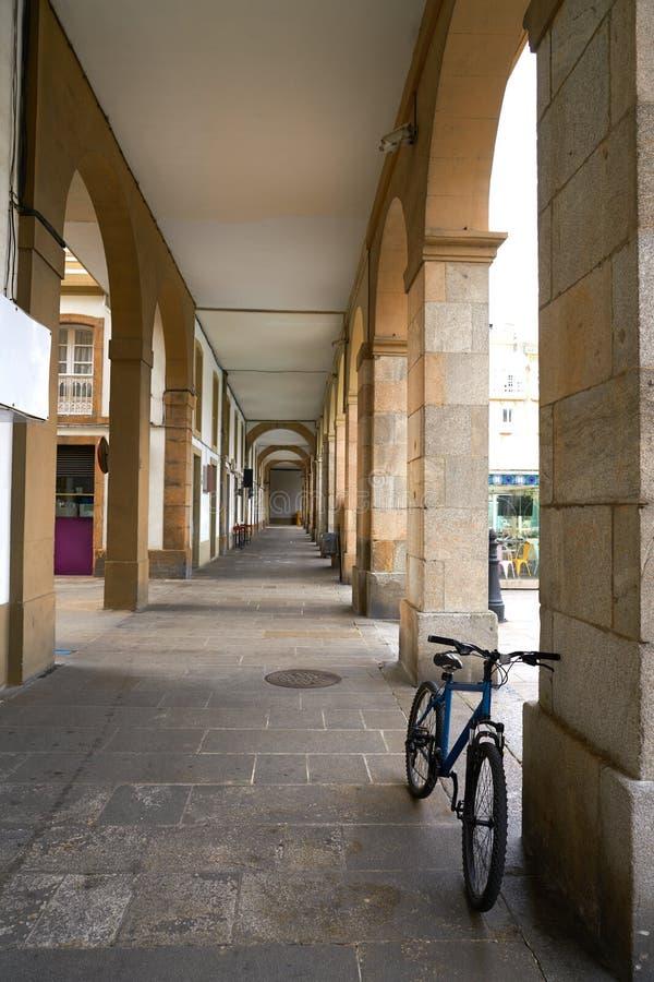 La Coruna Maria Pita Square Galicia Spain. La Coruna Maria Pita Square arcade of Galicia Spain royalty free stock image