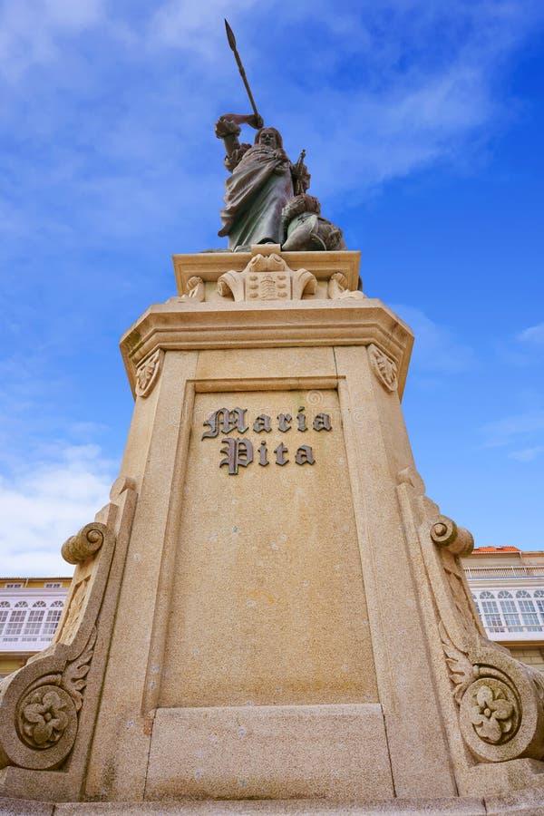 La Coruna Maria Pita Square monument in Galicia. Spain stock images