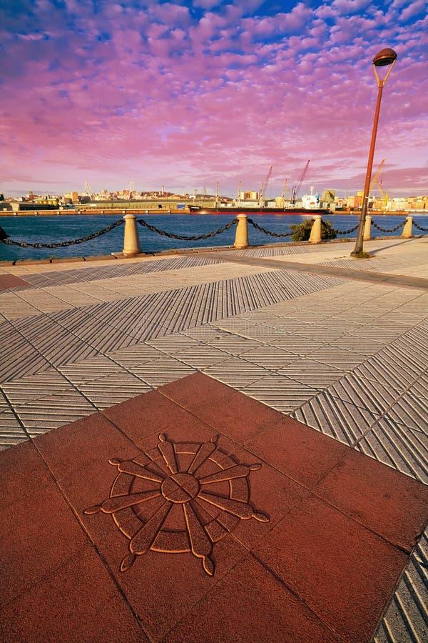 La Coruna Port pavement detail in Galicia Spain. La Coruna Port pavement detail in Galicia of Spain stock photo