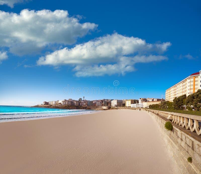 La Coruna Riazor beach in Galicia Spain. La Coruna Riazor beach in Galicia of Spain stock images