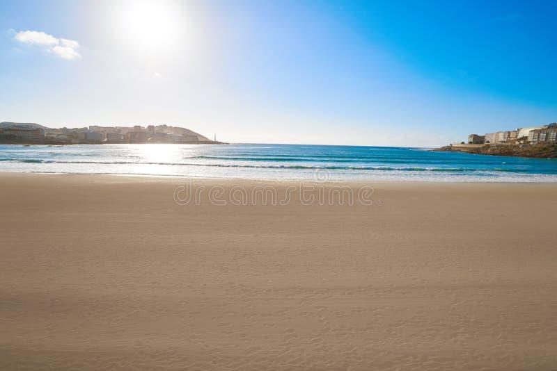 La Coruna Riazor beach in Galicia Spain. La Coruna Riazor beach in Galicia of Spain stock photos