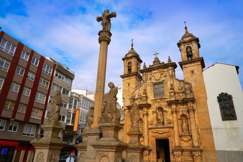La Coruna Saint Jorge church in Galicia Spain. La Coruna Saint Jorge church in Galicia of Spain royalty free stock image