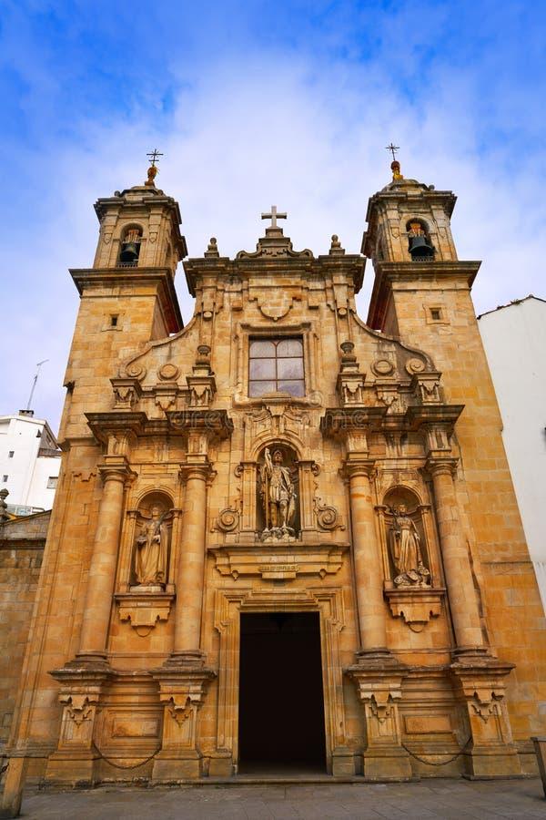 La Coruna Saint Jorge church in Galicia Spain. La Coruna Saint Jorge church in Galicia of Spain stock image