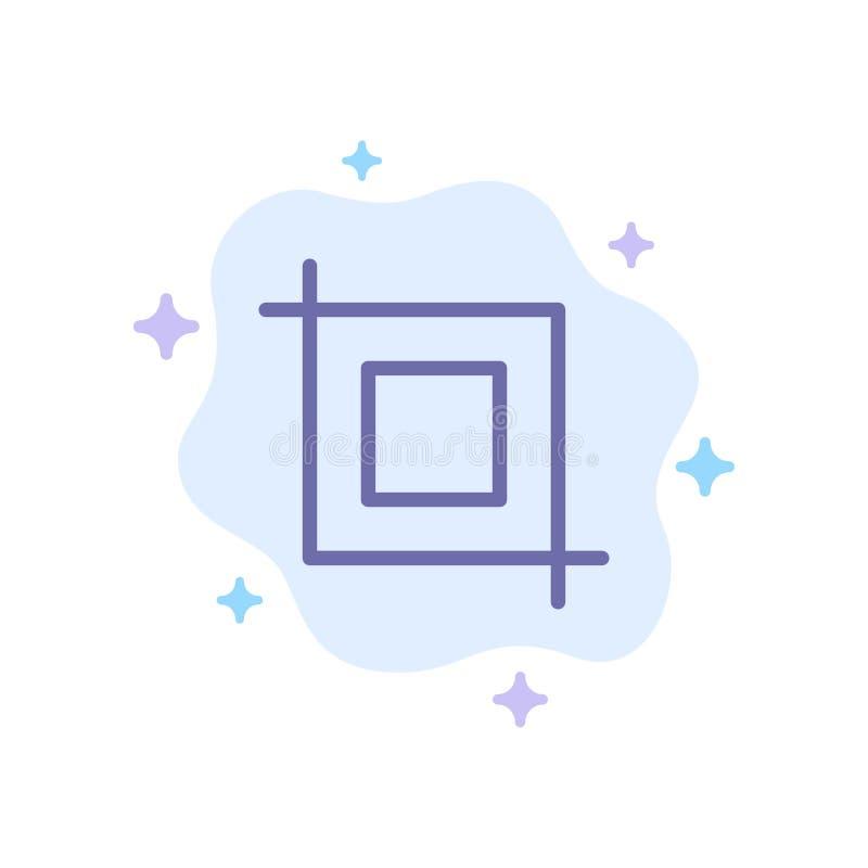 La cosecha, herramienta, transforma el icono azul en fondo abstracto de la nube libre illustration