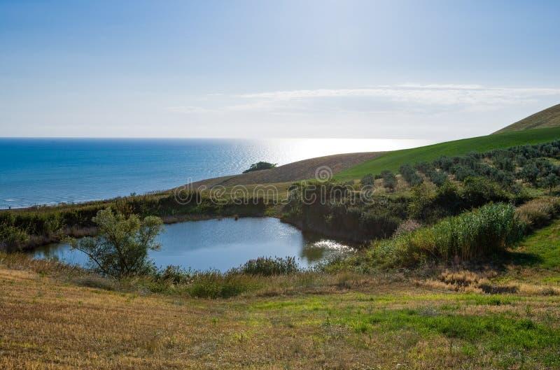 La costa adriática fotos de archivo