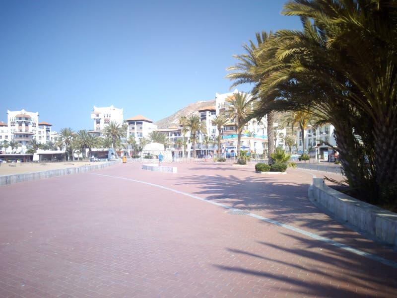 La costa Agadir Marocco fotografia stock libera da diritti
