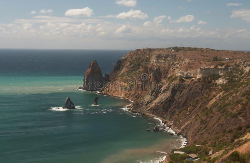 La costa crimea foto de archivo libre de regalías