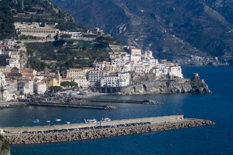 La costa de Amalfi imagen de archivo