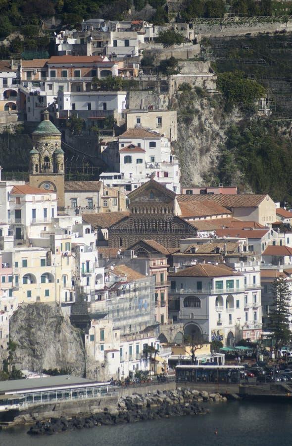 La costa de Amalfi imagenes de archivo