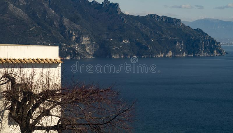 La costa de Amalfi fotos de archivo libres de regalías