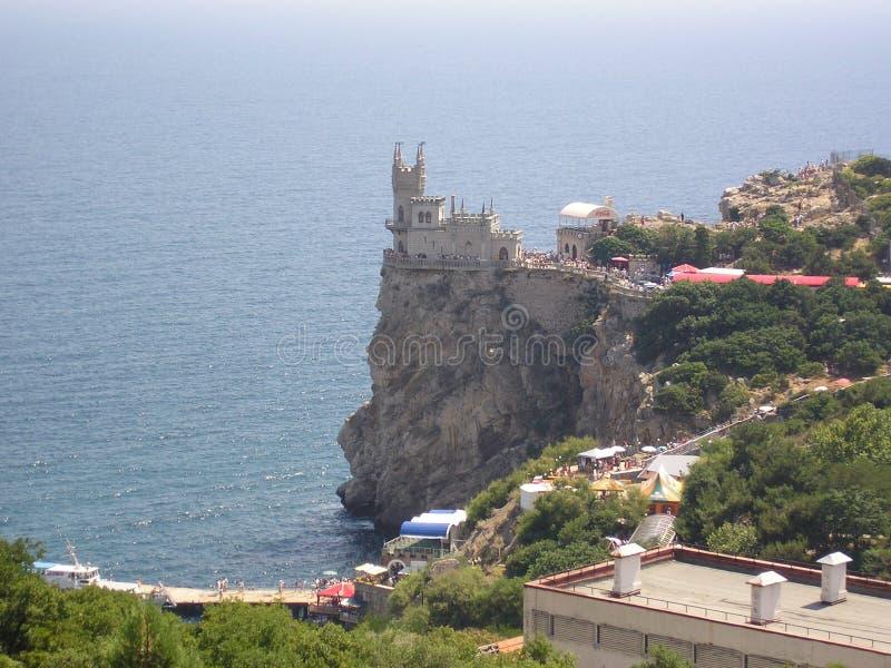 La costa de la jerarquía del trago de Crimea, la atracción principal, un monumento de la arquitectura, el Mar Negro fotografía de archivo