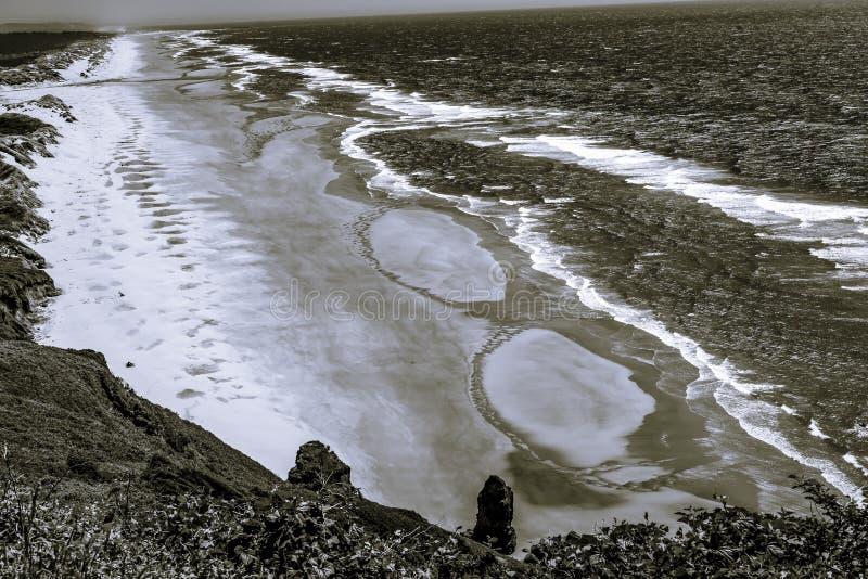 La costa costa de la playa agita el Océano Pacífico Florence Oregon foto de archivo libre de regalías