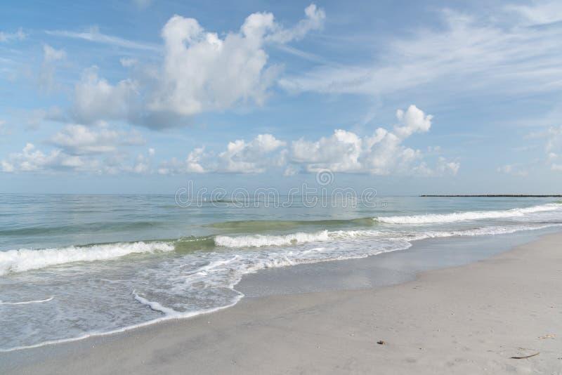 La costa del golfo del Messico nell'area Clearwater, Florida, fotografia stock libera da diritti