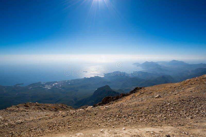 La costa del mar Mediterr?neo fotografía de archivo libre de regalías