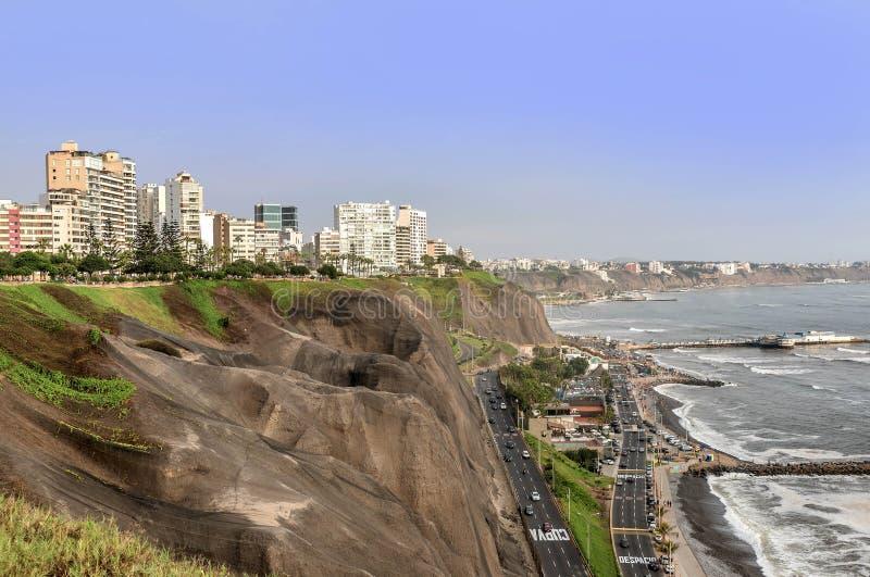 La Costa del Pacífico de Miraflores en Lima, Perú fotos de archivo libres de regalías