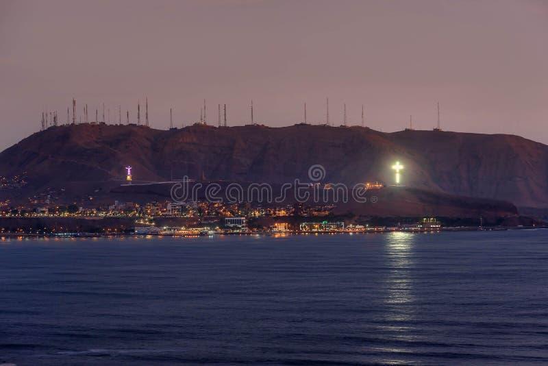 La Costa del Pacífico de Miraflores en Lima, Perú imagen de archivo