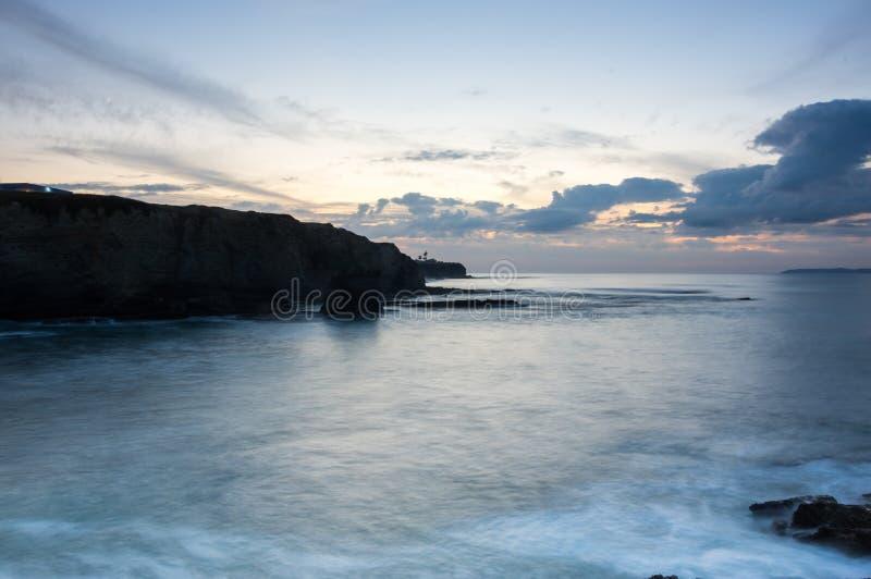 La costa dell'Oceano Atlantico immagine stock