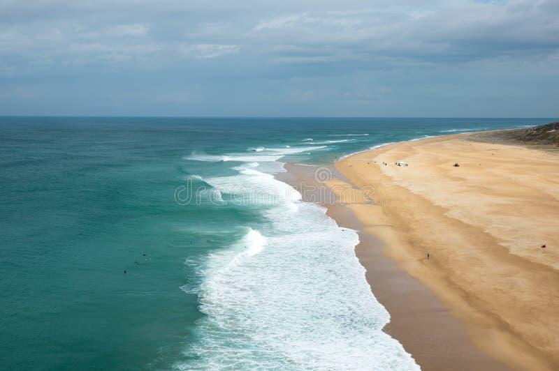 La costa dell'Oceano Atlantico immagini stock libere da diritti