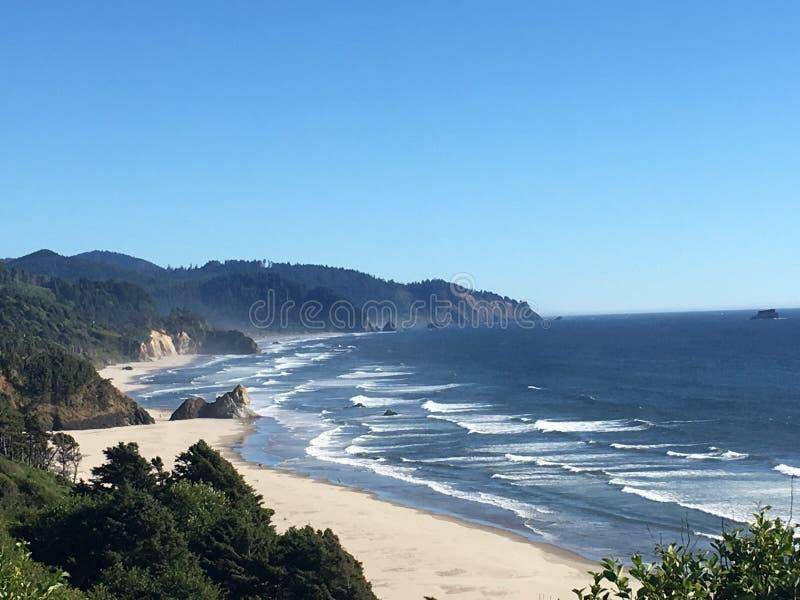La costa dell'Oregon fotografia stock