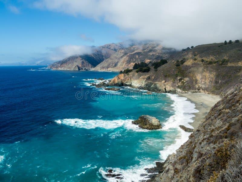 La costa di Big Sur immagini stock libere da diritti