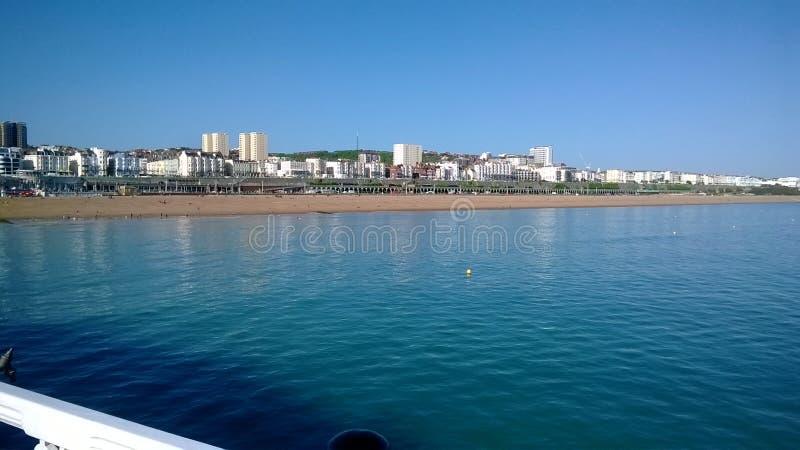 La costa di Brighton fotografie stock