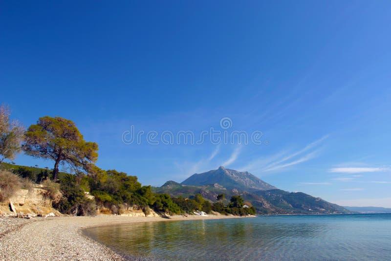 La costa di Skaloma fotografie stock