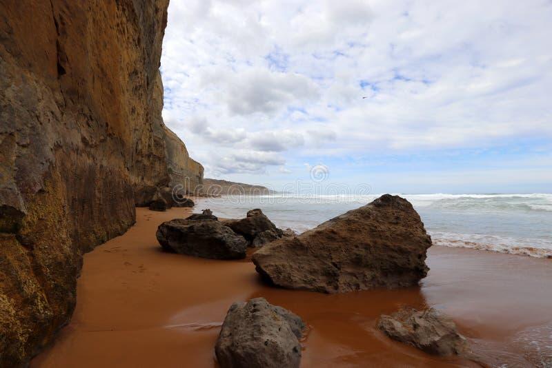 La costa a porto Campbell, grande strada dell'oceano in Victoria 12 apostoli si avvicina al porto Campbell, la grande strada in V fotografie stock libere da diritti