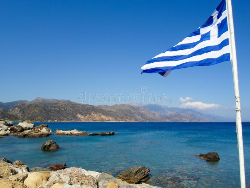 La costa costa rocosa de Creta fotos de archivo libres de regalías