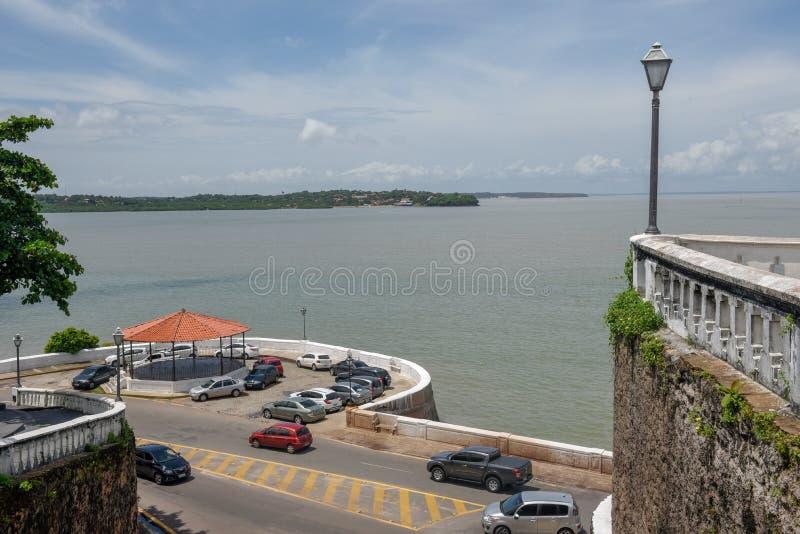 La costa a sao Luis nel Brasile fotografie stock