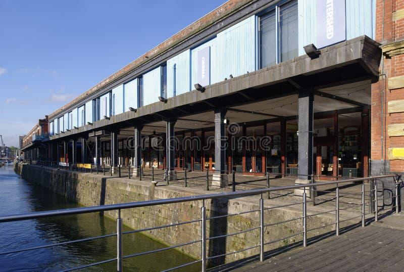 La costa y la línea divisoria de las aguas, Bristol Docks fotos de archivo libres de regalías