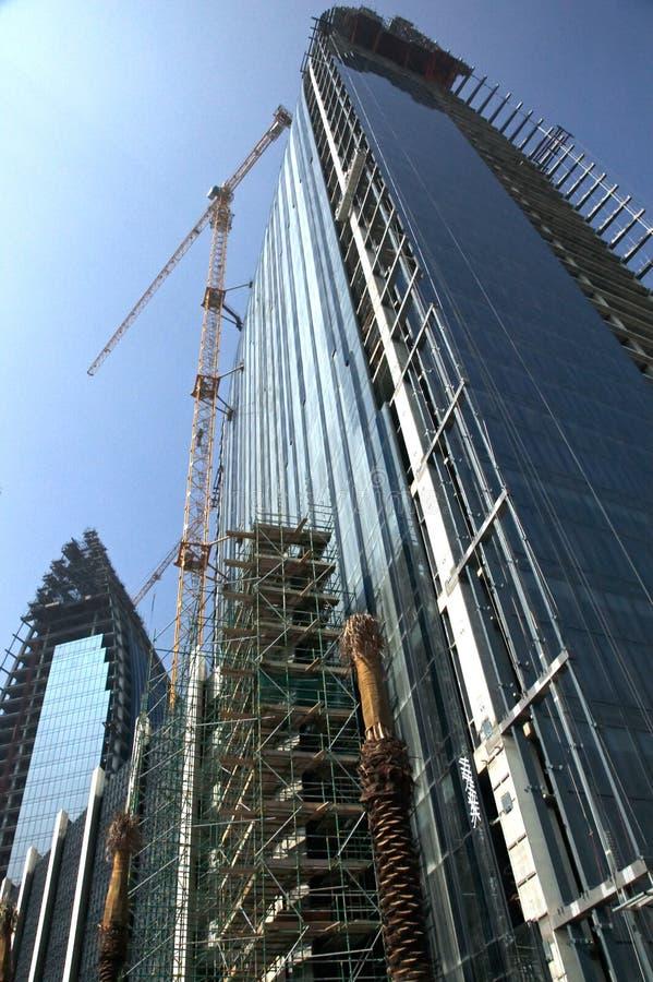 La costruzione continua immagine stock