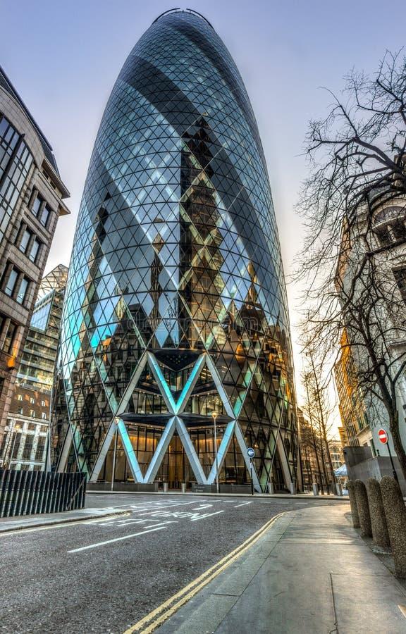 La costruzione del cetriolino a Londra immagini stock