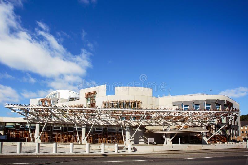 La costruzione del Parlamento scozzese fotografia stock libera da diritti
