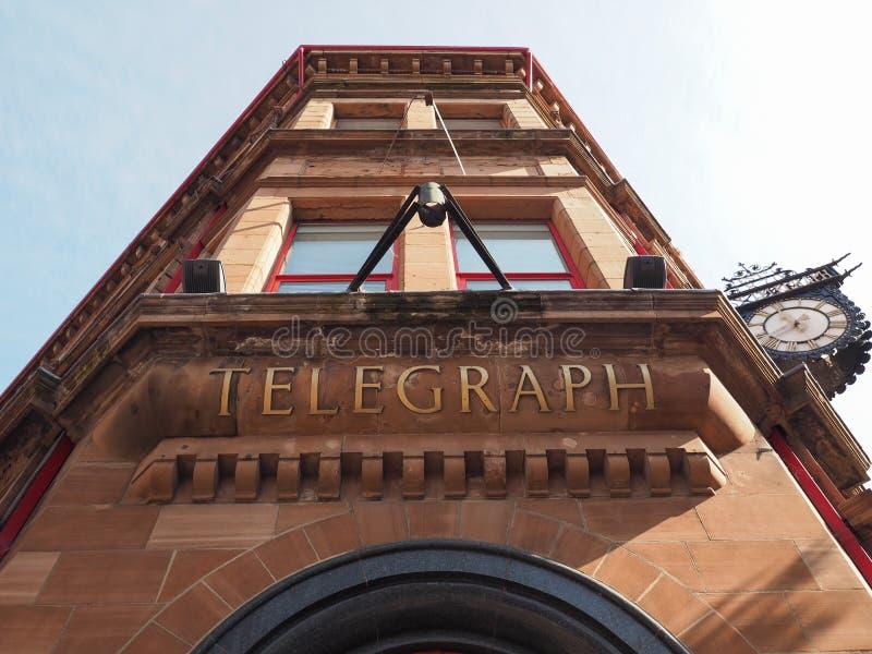 La costruzione del telegrafo di Belfast a Belfast fotografia stock