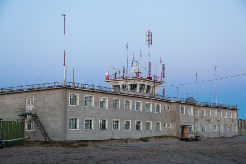 La costruzione dell'aeroporto fotografia stock