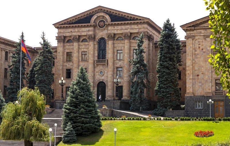 La costruzione dell'assemblea nazionale a Yerevan immagine stock libera da diritti
