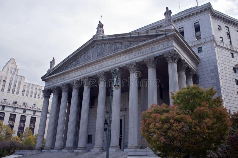 La costruzione della corte suprema dello stato di New York immagini stock