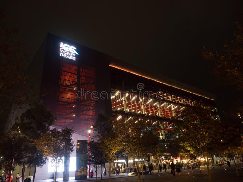 La costruzione della facciata del teatro ICC di Sydney, della progettazione contemporanea, della tecnologia principale e degli sp fotografie stock