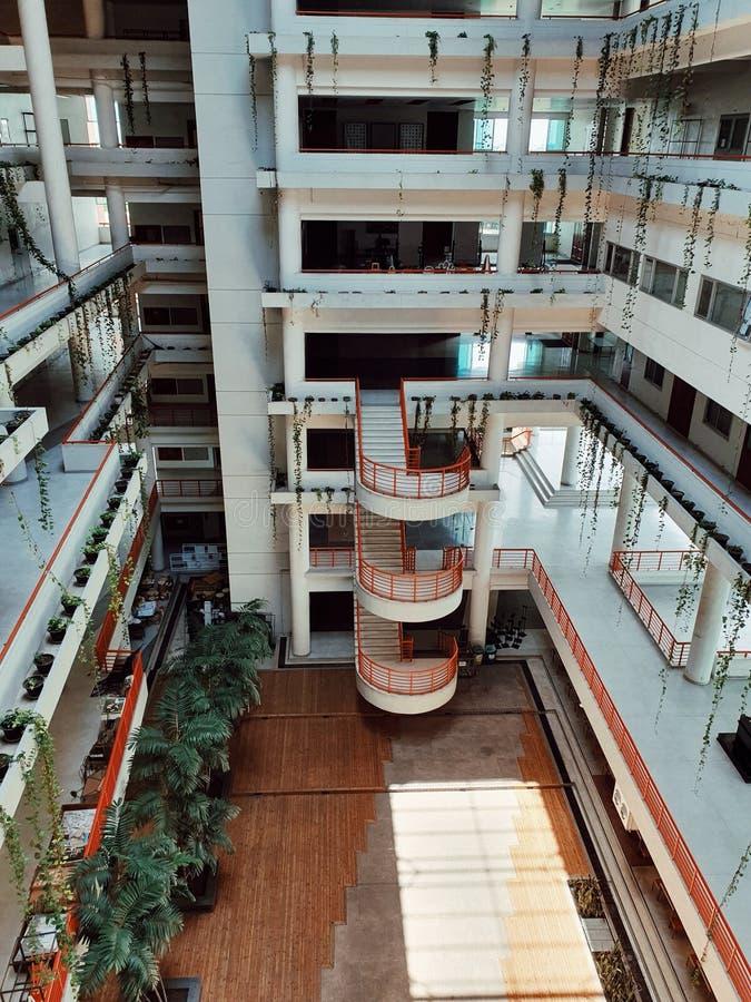 La costruzione della facoltà di architettura, università di thammasat, Bangkok, Tailandia fotografia stock libera da diritti
