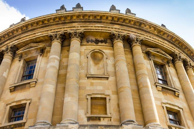 La costruzione della macchina fotografica di Radcliffe a Oxford in Gran Bretagna immagini stock libere da diritti