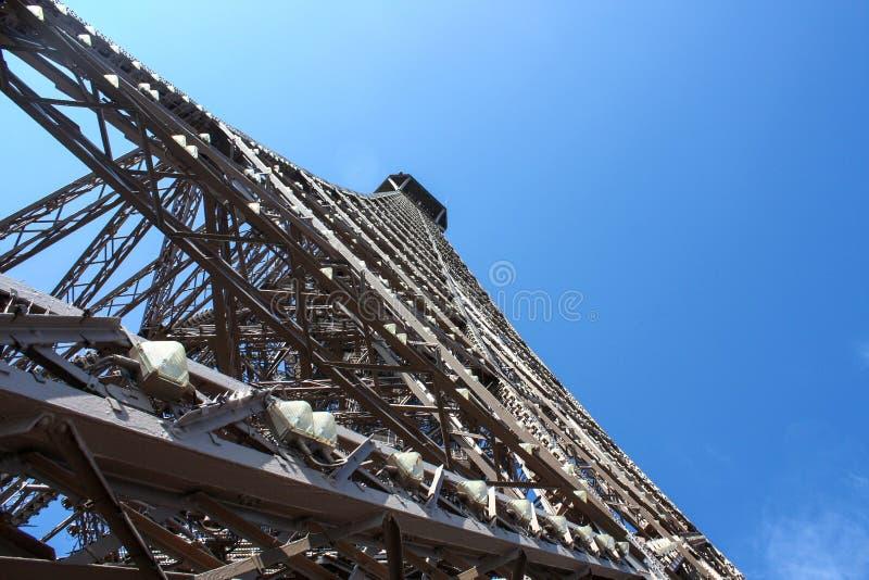 La costruzione della torre Eiffel immagine stock