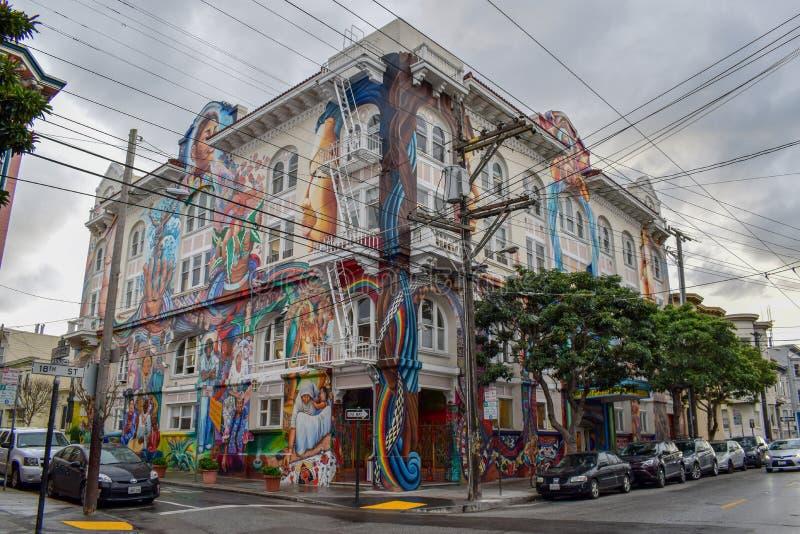 La costruzione delle donne a San Francisco fotografie stock
