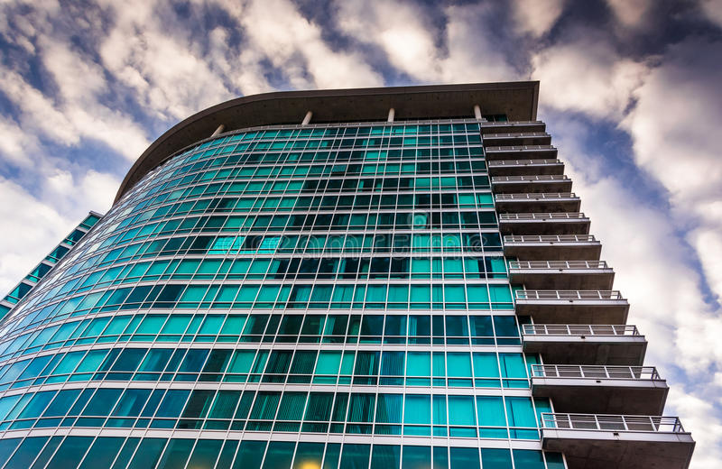 La costruzione di appartamento di zenit a Baltimora, Maryland immagini stock libere da diritti