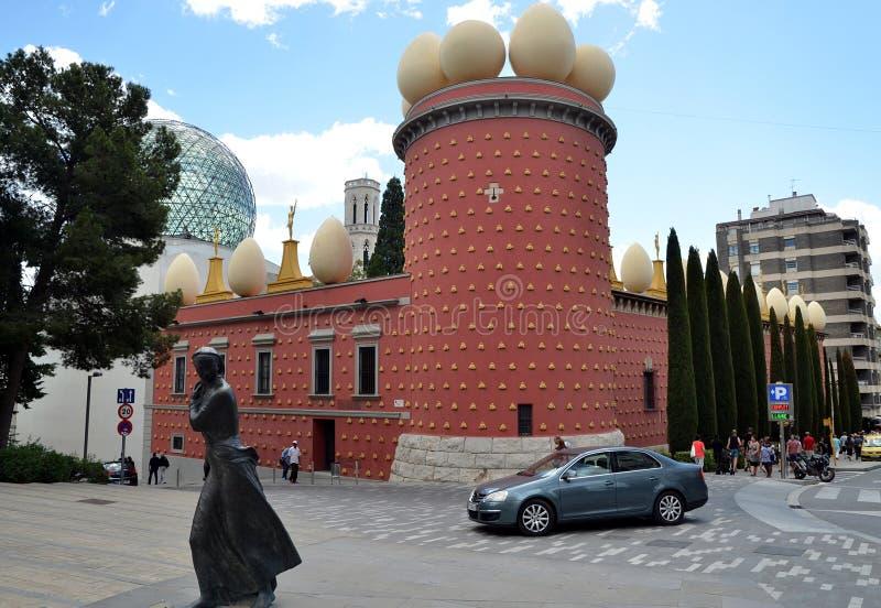 La costruzione di Dali Theatre e del museo, Figueres, Spagna immagine stock libera da diritti