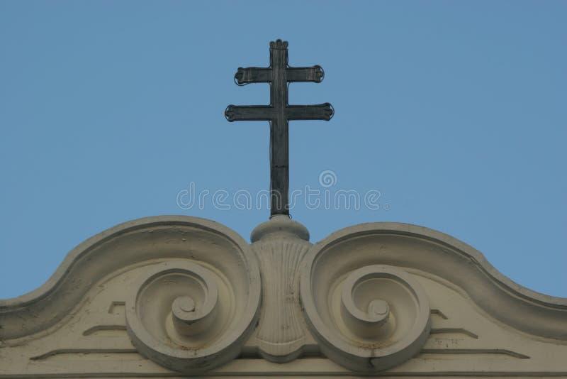 La costruzione di metà del XVI secolo della cappella della cattedrale di Caracas della trinità santa fotografia stock