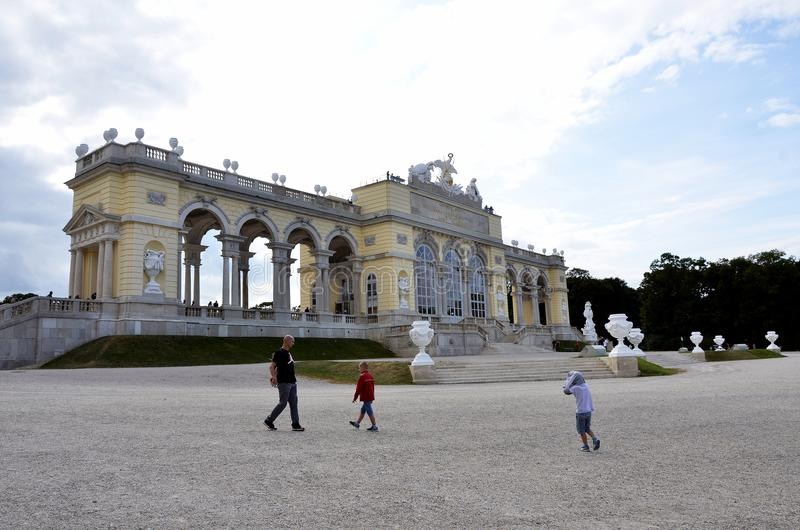 La costruzione dove gli imperatori austriaci hanno celebrato fotografia stock