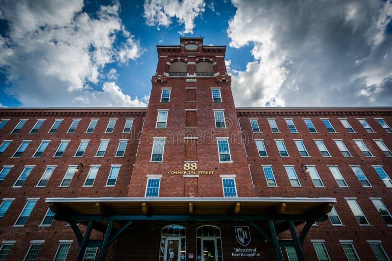 La costruzione principale all'università del New Hampshire, in Manches immagine stock libera da diritti