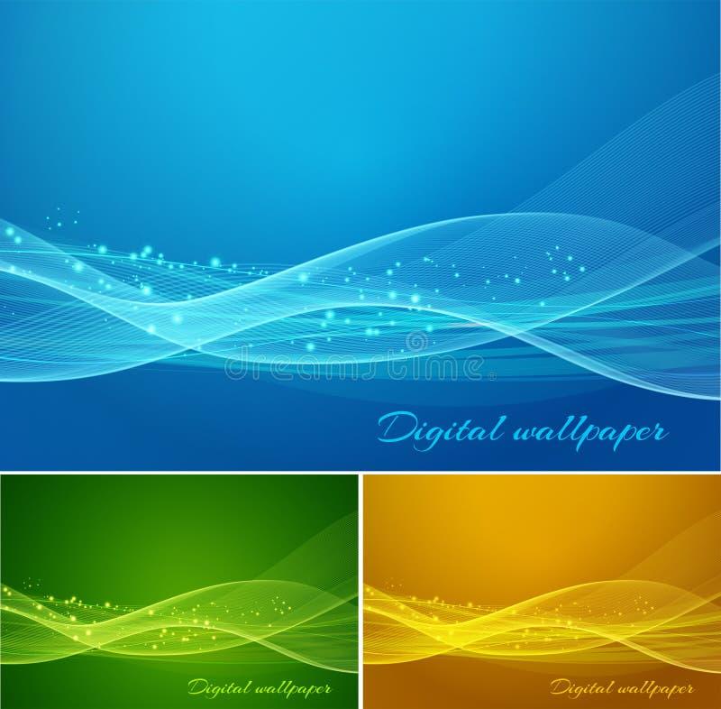 La couleur brillante ondule le fond illustration stock