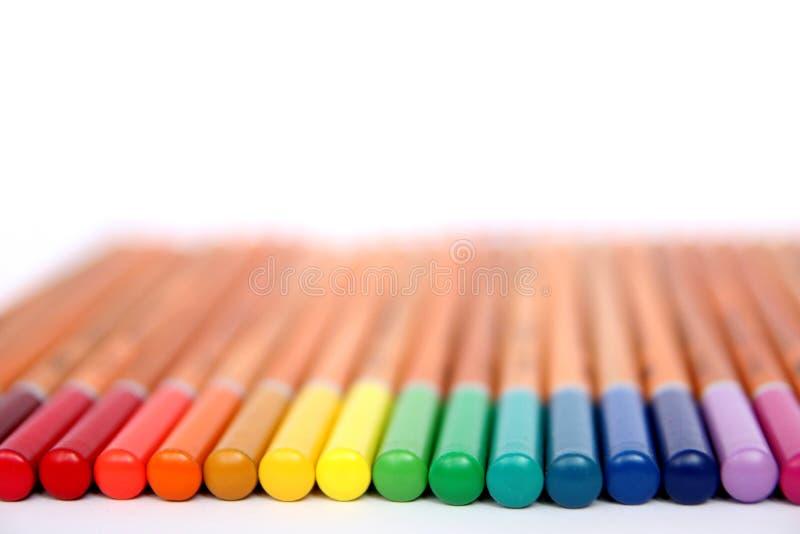 La couleur crayonne la collection image stock